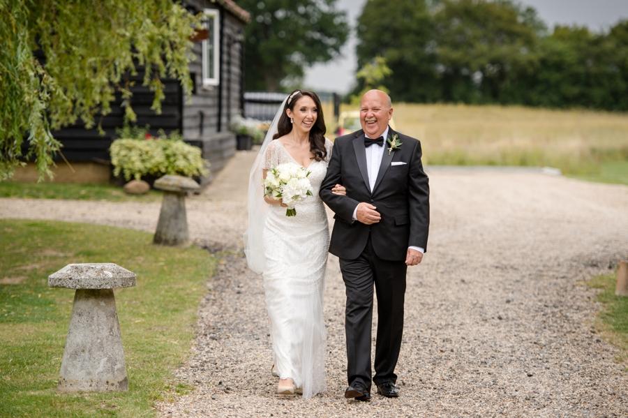 Bride & Dad at Colville Hall